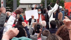 imagen de una protesta en A Coruña
