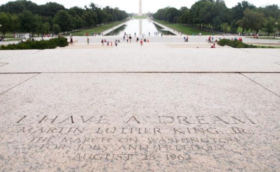 Imagen del monumento a King en Washington