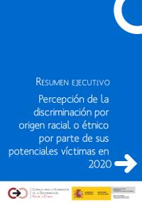 Portada del informe Percepción de la discriminación