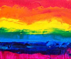 pintura arco iris